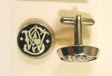 Smith & Wesson Cuff Links , Smith and Wesson logo cufflinks , S&W souvenir cuffs