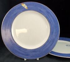 Wedgwood SARAH'S GARDEN 2 Dinner Plates Lavender Blue Band GREAT VALUE