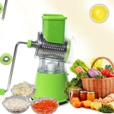 NEW Vegetables Fruit Cutter Slicer Stainless Steel Cheese Shredder Rotary Grater