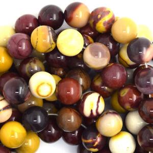 """Natural Mookaite Round Beads Gemstone 15.5"""" Strand mookite 4mm 6mm 8mm 10mm 12mm"""