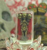 LUKOK Kuman thong  Thai Buddha Amulet Talisman Holy Voodoo 3 Skull doll Pendant