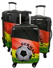 Reise Koffer Reisekoffer Set Hartschalenkoffer Trolley Bordgepäck EM Deutschland