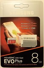 Samsung Micro Memory SDHC Card SD 8GB TF Adapter  UHS-1 Class 10 EVO+ 95MB/s