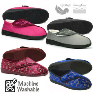 Ladies Wide Fit Slippers Womens Wide Fitting Slippers House Shoes Slippers
