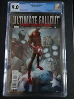 CGC Comic graded 9.0 ultimate fallout  #4  cover Key issue 1st app miles morales