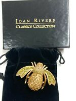 RARE JOAN RIVERS CLASSIC COLLECTION PINEAPPLE BEE PIN BROACH PAVE JEWELRY