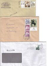 BRD 3 Briefe mit Rollenmarkenenden, 913AI, 914AI, Burgen u Schlösser, 1341A SWK