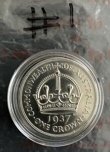 1937 Australian Crown 92.5% Silver EF