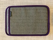 Rickshaw Padded Tablet Sleeve | Gray With Purple Binding