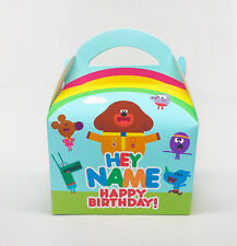 Hey Duggee Cbeebies Personalised Children Party Boxes Gift Favour 1ST CLASS POST