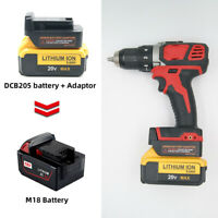 DEWALT 20V XR&DCB-Li-Ion Battery Convert To Milwaukee M18 Adapter- Adapter Only