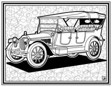 Coloring Page - Retro Car # 7 (Hi-Res JPG file will be sent by email)