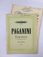 Noten. Paganini.  Kompositionen.   Violine & Klavier.  Mit Stimme.
