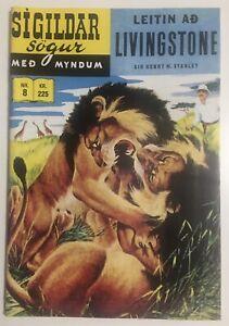 Sigildar Sogur Livingstone by Sir Henry M. Stanley Silver Age Comic FINNISH LANG