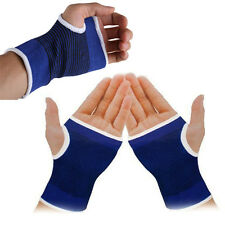1 Pair Blue Elastic Wrap Hand Wrist Palm Splint Supports Sport Gloves Brace Gym