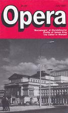 Opera Magazine 1986 Jul : JAMES KING, CAROL ANN EDWARDS, LJUBA WELITSCH