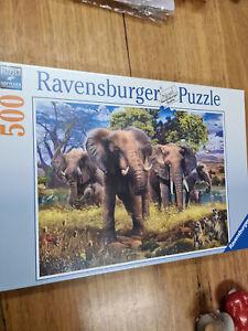Jigsaw Puzzle elephant family 500pc ravensburger africa