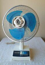 Vintage Panasonic 5 Way Oscillating 3 Speed Desk Fan 12 Inch Model F-1207