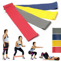 HN- Set Of 4 Resistance Band Loop Power GYM Fitness Exercise Yoga Workout Bump