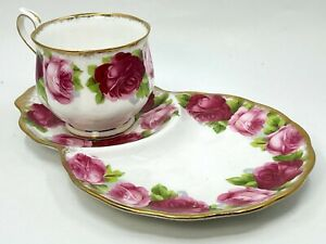 Royal Albert Old English Rose Tennis Set Cup & Saucer Mint Condition