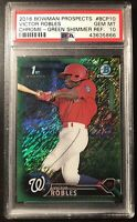 Victor Robles Green Shimmer /99 PSA 10 Refractor 2016 Bowman Chrome Prospects