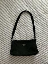 Prada Nylon Long Strap Mini Hobo Bag