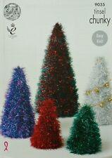 Tejer patrón Oropel árbol de Navidad Juguetes/Adornos 3 Tamaños OROPEL GRUESO 9035