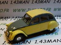 2CV25E Voiture 1/43 norev citroën : 2 CV n°132 DOLLY grise et beige/jaune