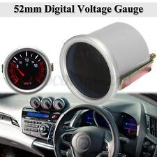 2'' 52mm White & Red LED Voltage Gauge Voltmeter Digital Volt Meter Car