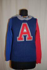 ARABELLA & ADDISON Feinstrick Kapuzenpullover College Pullover blau/rot/grau M