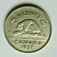 CANADA 1937 & 1938 NICKEL 5 CENT COINS (2)