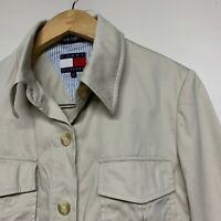 Tommy Hilfiger Coat Trench Mac Camel Beige Size Small S / UK 8