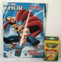 Marvel Thor Jumbo Coloring & Activity Book + Crayons Boys Art Kids
