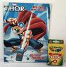 Marvel Thor Jumbo Coloring & Activity Book + Crayons Boys Art Kids