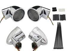 Chrome Revox Bullet Style LED Turn Signal Lamp Kit For Harley-Davidson