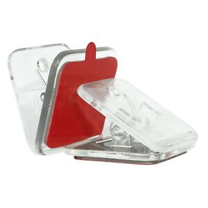 Self Adhesive Spring Clips Clear, Sticky Clip Tapestry Hanger, Wall Clips 8 Pack