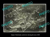 OLD LARGE HISTORIC PHOTO GULPEN NETHERLANDS HOLLAND TOWN AERIAL VIEW c1940