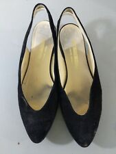 The Tog Shop Womens Sling Back Flats Black Suede 7.5 Narrow H1