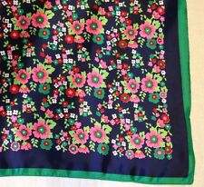 VINTAGE RETRO 80S HIPSTER SCARF WATER REPELLENT MADE IN ITALY BEAUTIFUL FLORAL