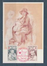 carte   1er jour  la paire croix rouge  Strasbourg  1965