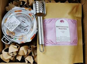 Bolivianisches RoséSalz Geschenk Set +  ausführl. Anleitung zur SoleHerstellung