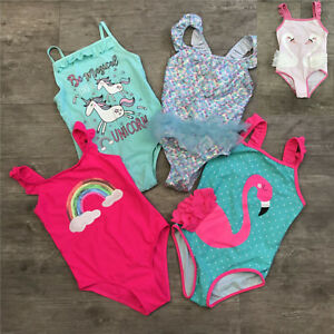 BNWT Primark girls mermaid sparkle shimmer frill swimsuit costume 4-5 years