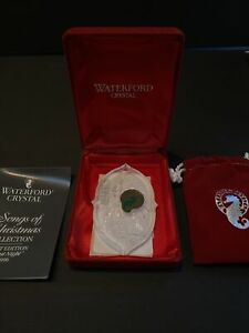 1996 Waterford Crystal Ornament, Silent Night - Songs of Christmas