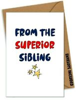 Funny HAPPY BIRTHDAY Card Humour Comedy Banter Rude Brother Sister Step /GS
