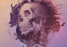 Imagen de arte cartel de Impresión Calavera Grunge A3 Talla GZ1822
