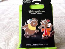 Disney * CINDERELLA MICE - GUS & JAQ * New on Card 2 Pin Set