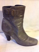 Jones Boot Maker Grey Ankle Leather Boots Size 38