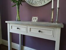 Contemporary Mushroom Grey Hall Console Vanity Table Furniture Wood 2 Drawers