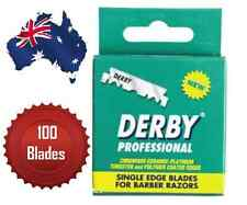 DERBY PROFESSIONAL SINGLE EDGE RAZOR BLADES PACK OF 100 - AUS SELLER