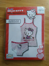 Hello Kitty Mädchen Garnitur Unterwäsche Set Unterhemd&Slip Gr. 110/116 NEU&OVP!